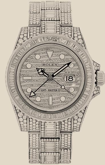 Rolex                                     GMT-Master IICustom Diamonds