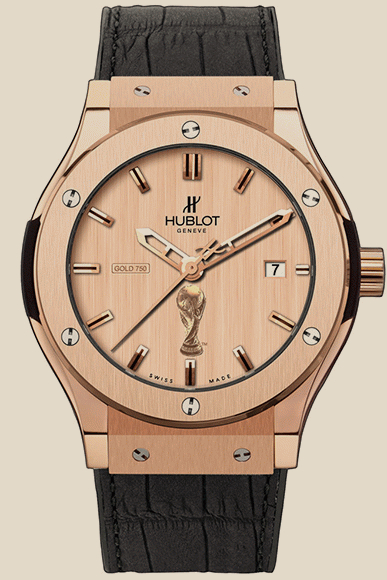 Hublot                                     Classic Fusion Gold World Cup