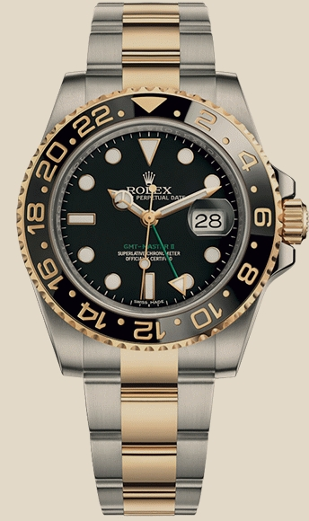 Rolex                                     GMT-Master II40mm Steel and Yellow Gold