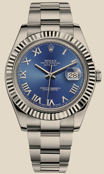 Rolex                                     Datejust II 41mm Steel and White Gold 116334 blro