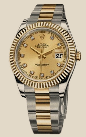Rolex                                     DatejustII - Steel and Gold Yellow Gold