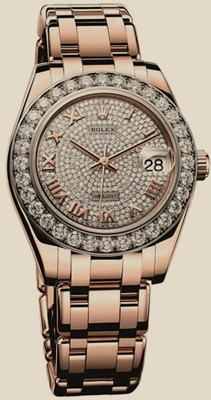 Rolex                                     DatejustPearlmaster Everose Gold 34 mm