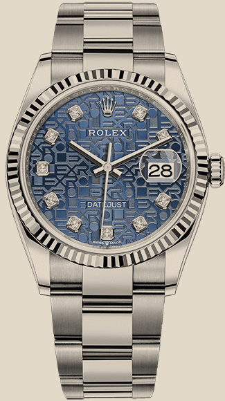 Rolex                                     Datejust36mm Steel and White Gold