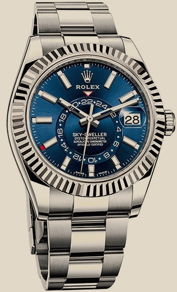 Rolex                                     Sky-Dweller42mm Steel and White Gold