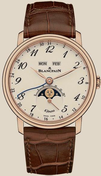Blancpain                                     VilleretMoon Phase Complete Calendar