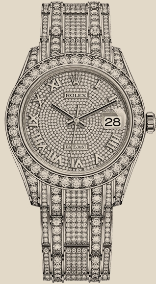 Rolex                                     Pearlmaster39 mm, white gold and diamonds