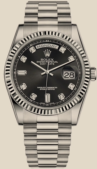 ROLEX Day-Date 36 mm, white gold