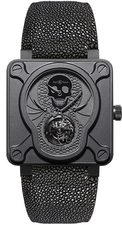 Bell & Ross / BR Instrument / BR01-TOURB-SKULL