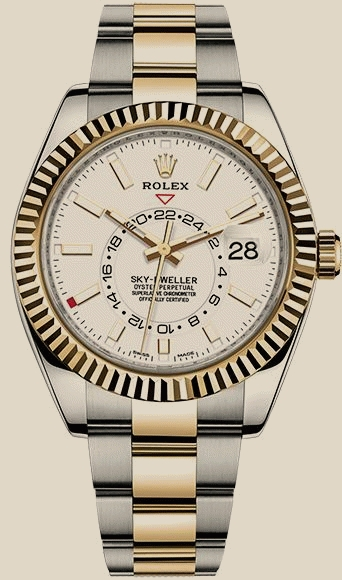 Rolex                                     Sky-Dweller42mm Steel and Yellow Gold